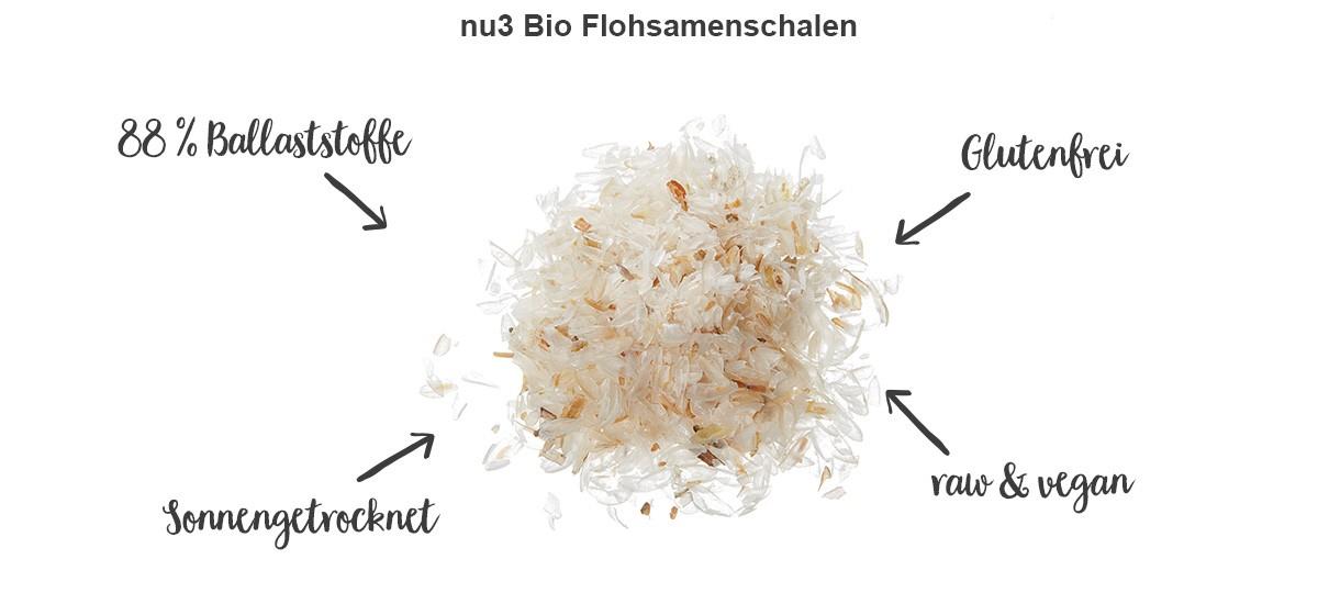nu3 Bio Flohsamenschalen - Eigenschaften