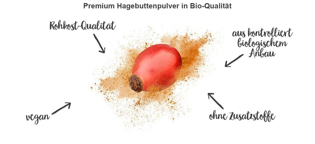 nu3 Bio Hagebuttenpulver - Vorteile