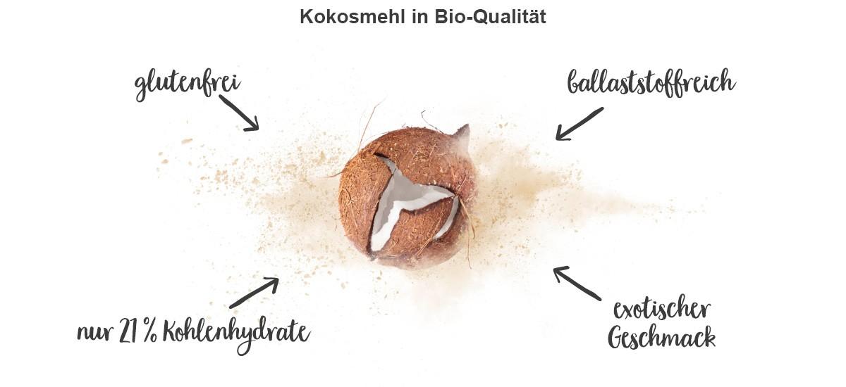 nu3 Bio Kokosmehl - Eigenschaften