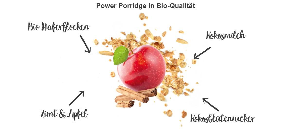 nu3 Bio Power Porridge, Apfel & Zimt - Eigenschaften