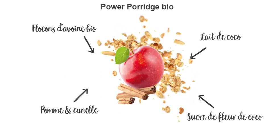 nu3 Porridge power bio, pomme & cannelle - Caractéristiques