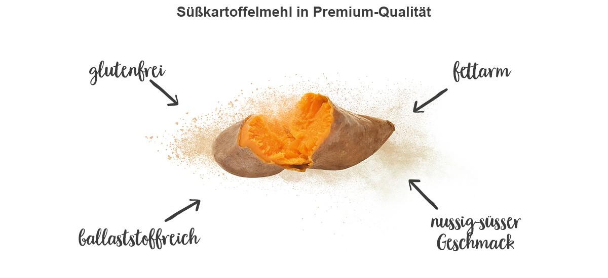 nu3 Süßkartoffelmehl - Eigenschaften