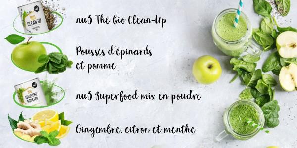 nu3 Poudre de superfood bio pour smoothie, Balance - Recette