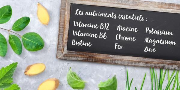 nu3 Poudre de superfood bio pour smoothie - Nutriments