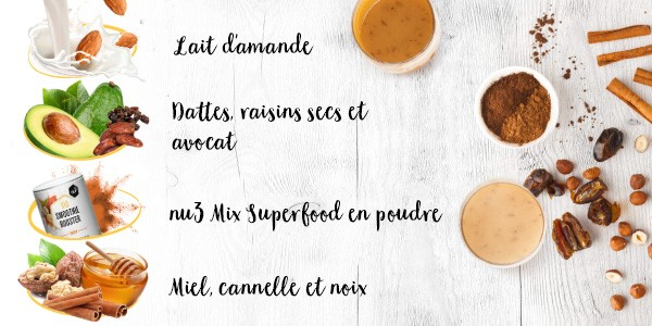 nu3 Bio Superfood Pulver Mix, Energy - Rezept
