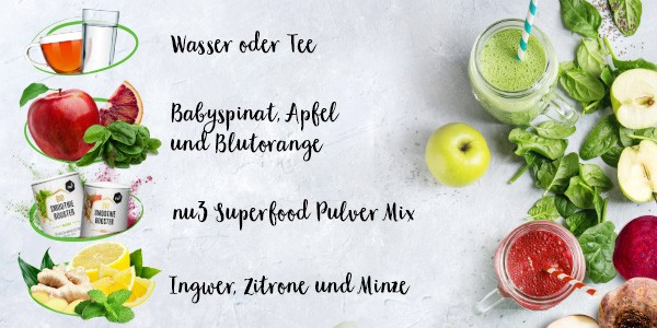 nu3 Bio Superfood Pulver Mix, Immunity - Rezept