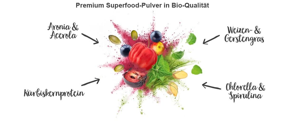 nu3 Bio Superfood Pulver Mix - Inhaltsstoffe