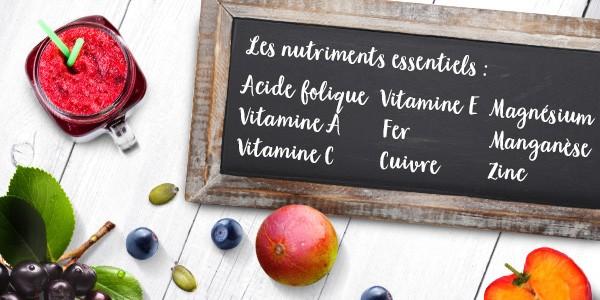 nu3 Poudre de superfood pour smoothie, Immunity - Nutriments