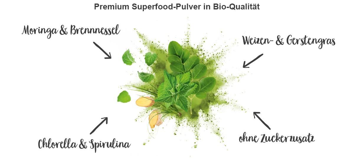 nu3 Bio Superfood Pulver Mix, Balance - Eigenschaften