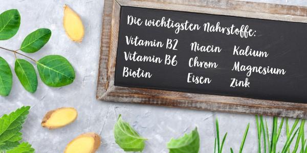 nu3 Bio Superfood Pulver Mix, Balance - Nährstoffe