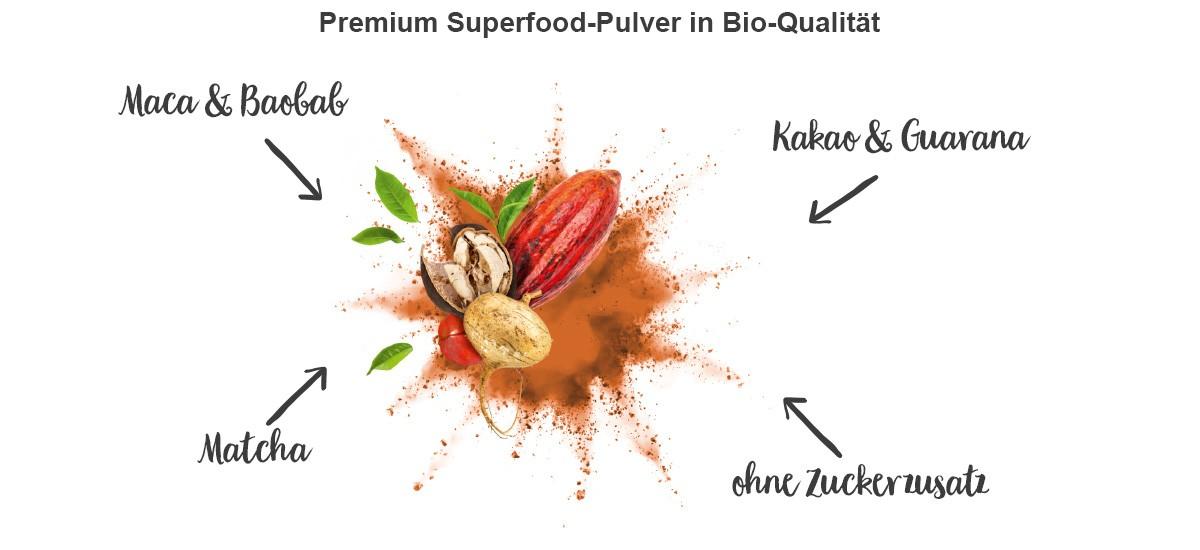 nu3 Bio Superfood Pulver Mix, Energy - Inhaltsstoffe