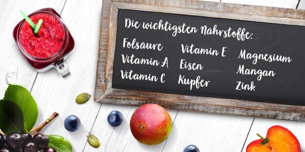 nu3 Bio Superfood Pulver Mix, Immunity - Nährstoffe