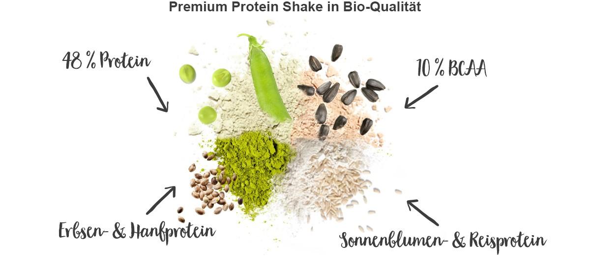 nu3 Bio Vegan Protein Shake, Vanille-Johannisbeere - Eigenschaften