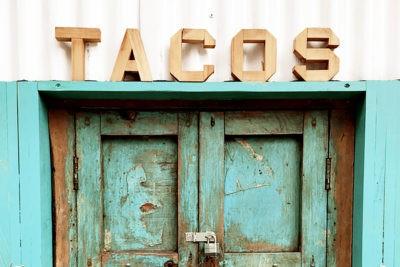 city, window, tacos, market