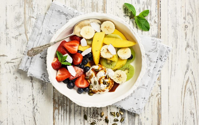 Fruchtbowl mit Kokosjoghurt