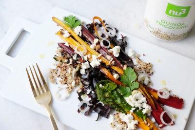 Mangold Salat mit Quinoa