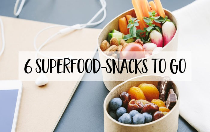 6 Superfood-Snacks to go
