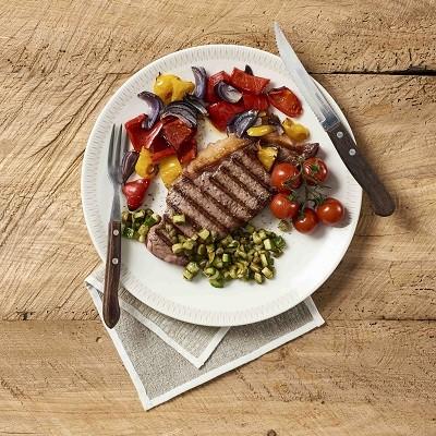 Beef Steak mit Gemüse vom Grill